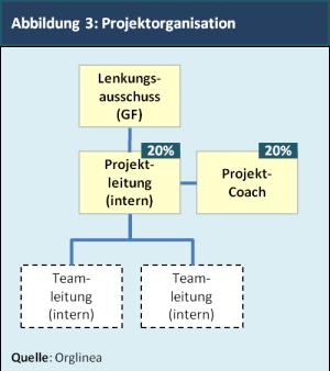 Abbildung 3: Projektorganisation